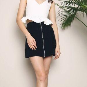 🌮 VTG Banana Republic Wool Mix Mini Skirt 12